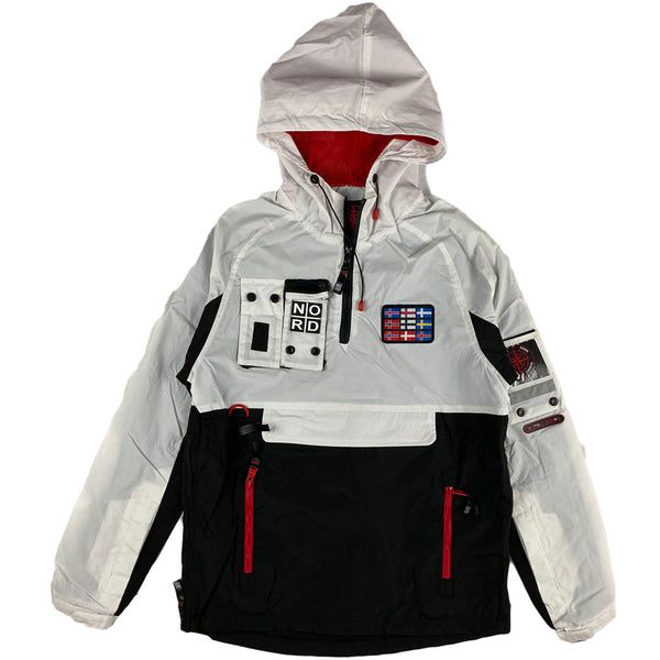 Nortic Down - Jacket Pullover Hoodie (black and white)