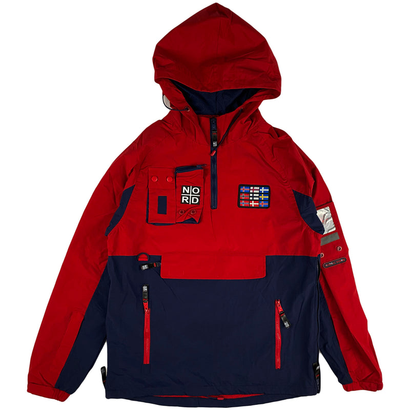 Nortic Down - Jacket Pullover Hoodie (red and navy)