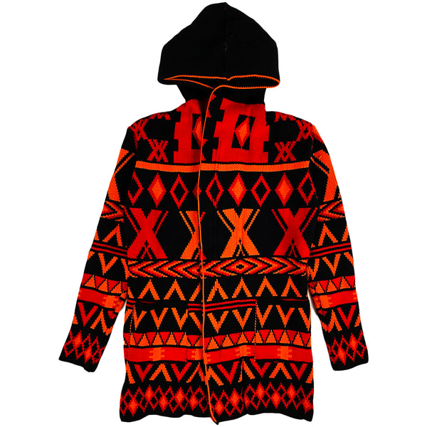 One In A Million - Hoodie LS Cardigan (navy/orange)
