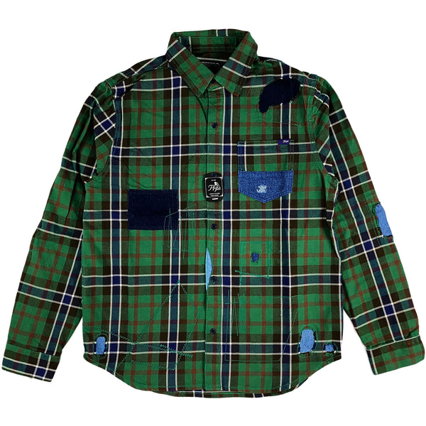 PRPS - Wilton Button Down (green plaid)