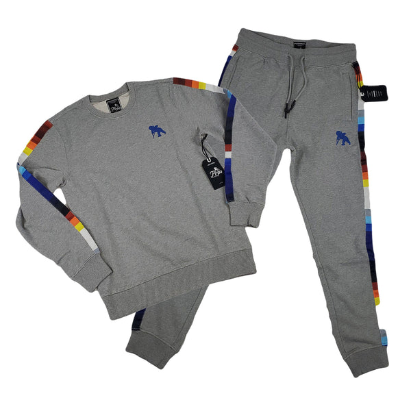 PRPS Bolivar Pixelated Stripe Jogger (heather grey)