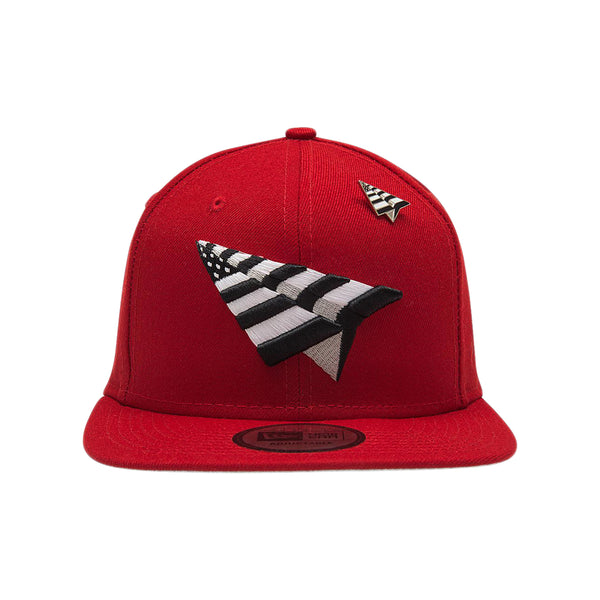 Paper Planes - Crimson Crown Old School Snapback