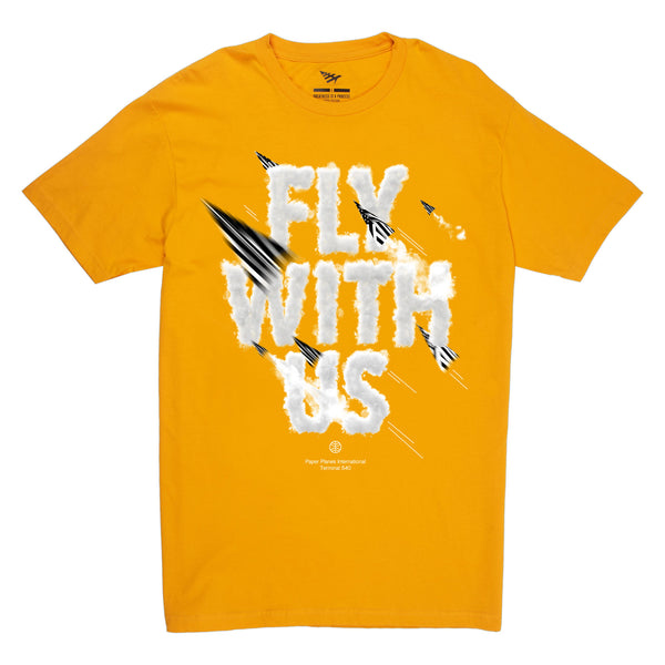 Paper Planes - Fly With Us Tee (yellow)