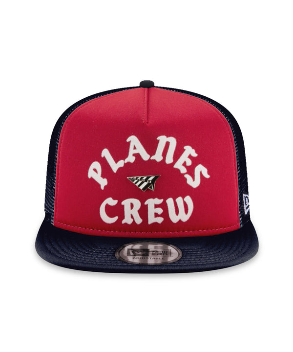 Paper Planes - Planes Crew Trucker Two Tone Old School Snapback (red/navy)