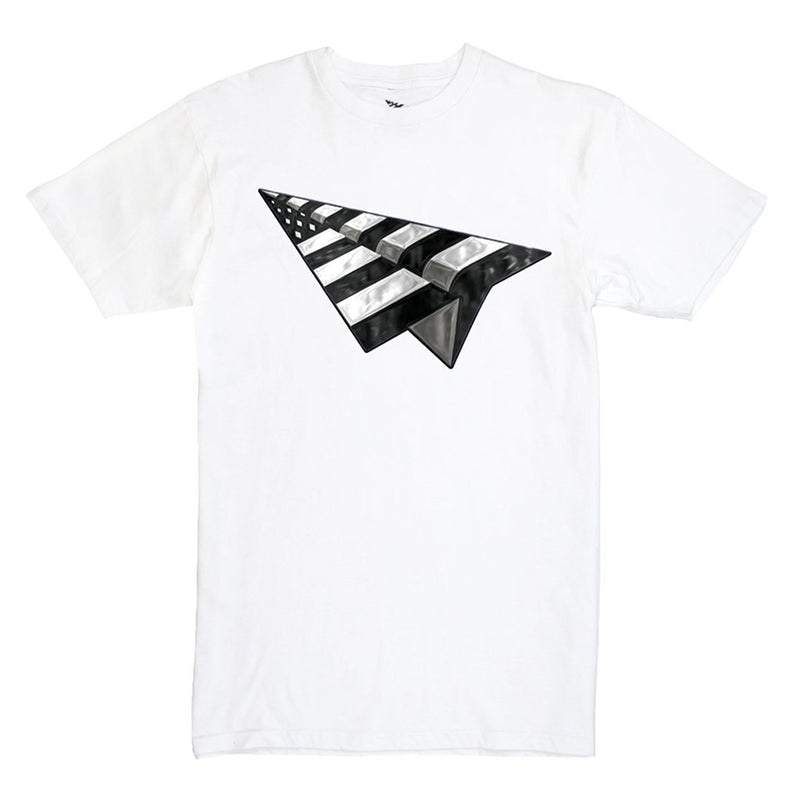 Paper Planes Planes Bevel Tee (white)