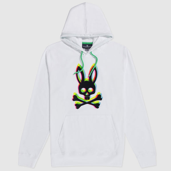 Psycho Bunny - Mens Holloway Pull Over Hoodie (white)
