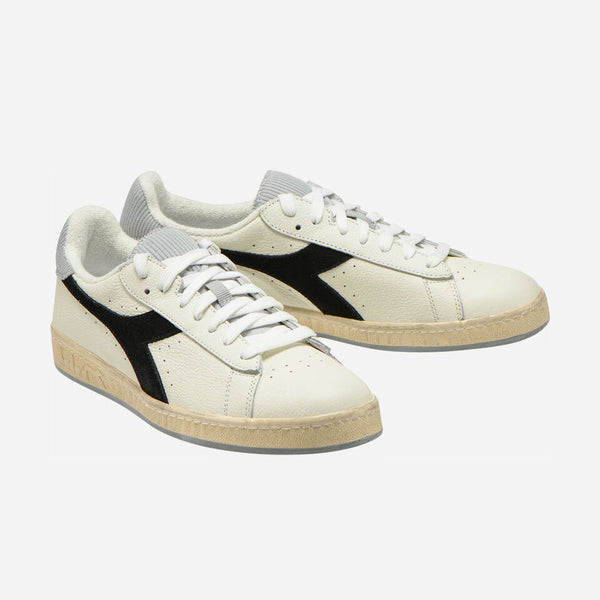 Diadora - Game L Low Icona (white, black, grey, vintage sole)