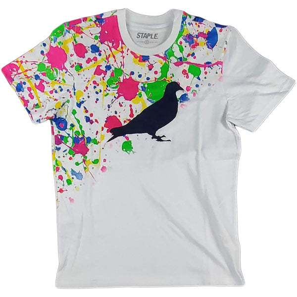 Staple - Splatter Pigeon Tee (white)