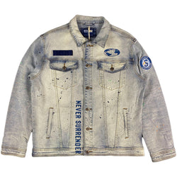 Staple - Spray Denim Jacket Med Stone Wash