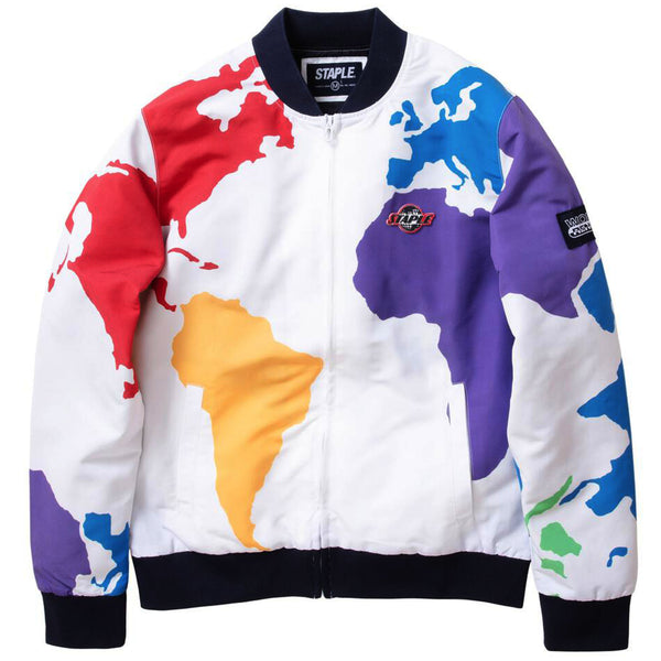 Staple - World Sport Bomber Jacket (white)