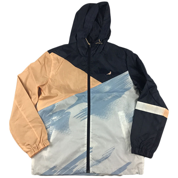 Staple Acrylic Nylon Jacket (navy/peach)