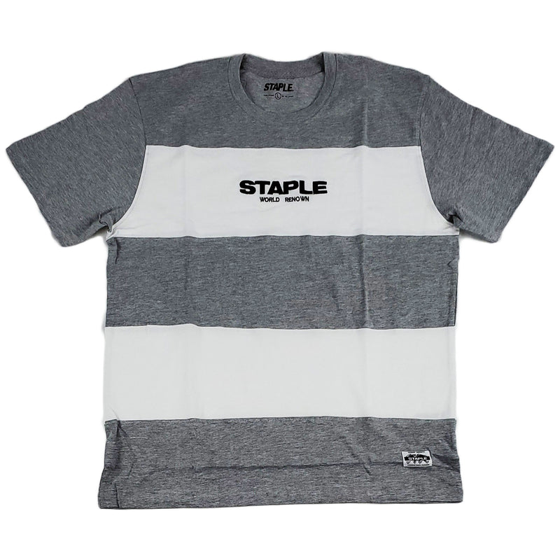 Staple Block Stripe Logo Tee (heather)