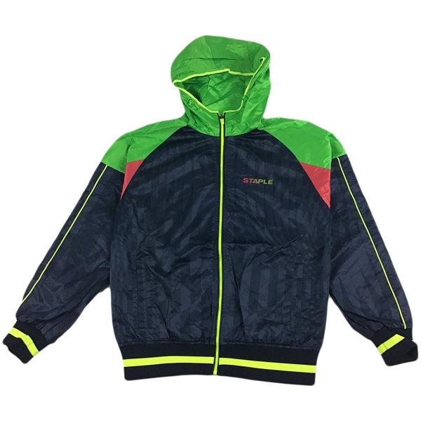 Staple Dazzle Zip Nylon Jacket (navy)