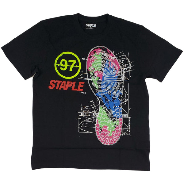 Staple Sneaker Blueprint Tee (black)