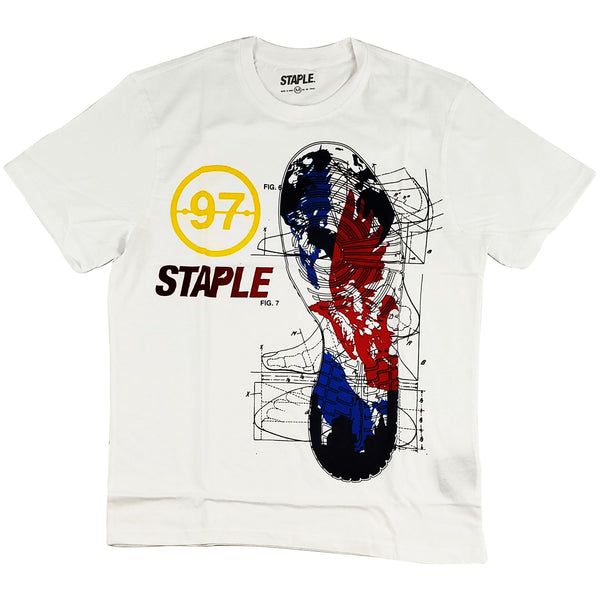 Staple Sneaker Blueprint Tee (white)