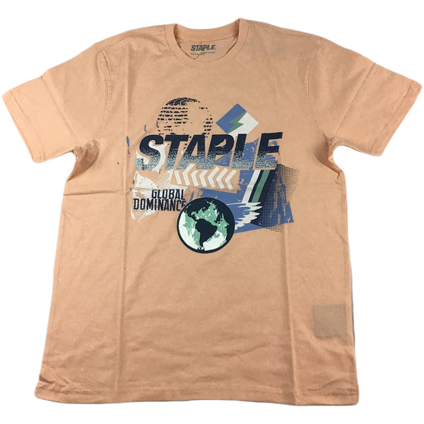 Staple World Paint Graphic Tee (peach)