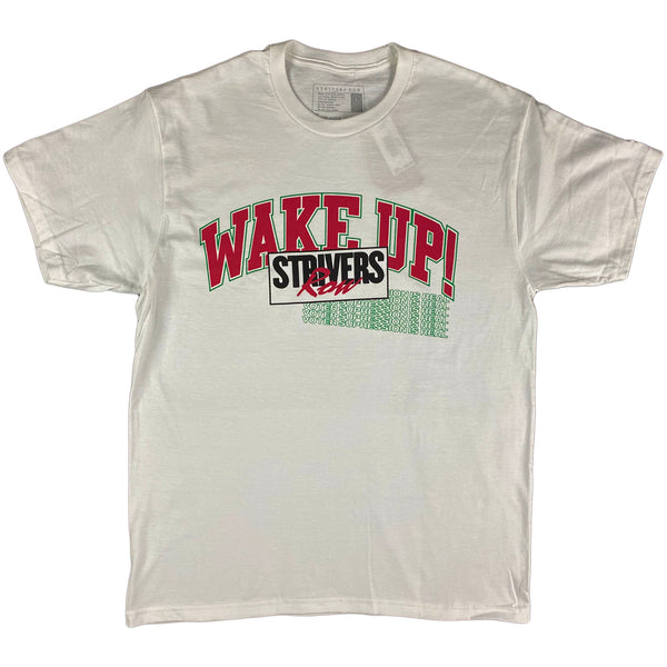 Striver's Row - Wake Up SS Tee (white)