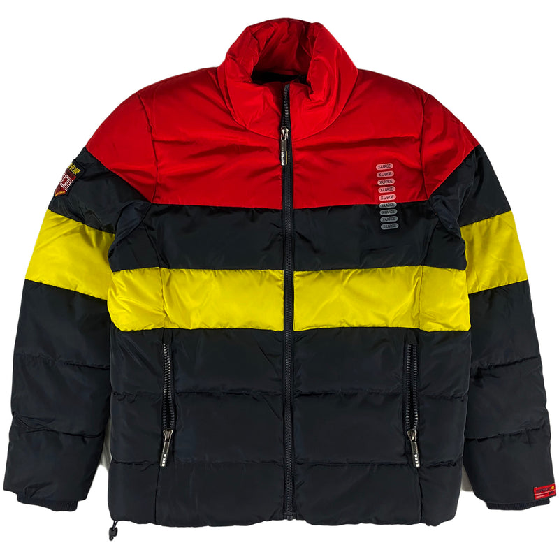 Superdry - Colour Stripe Sports Puffer (darkest navy)