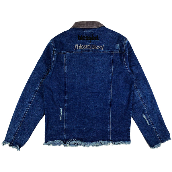 THC (The Hideout Clothing) - Blessed Denim Jacket (Cloud Grey/Dark Wash)