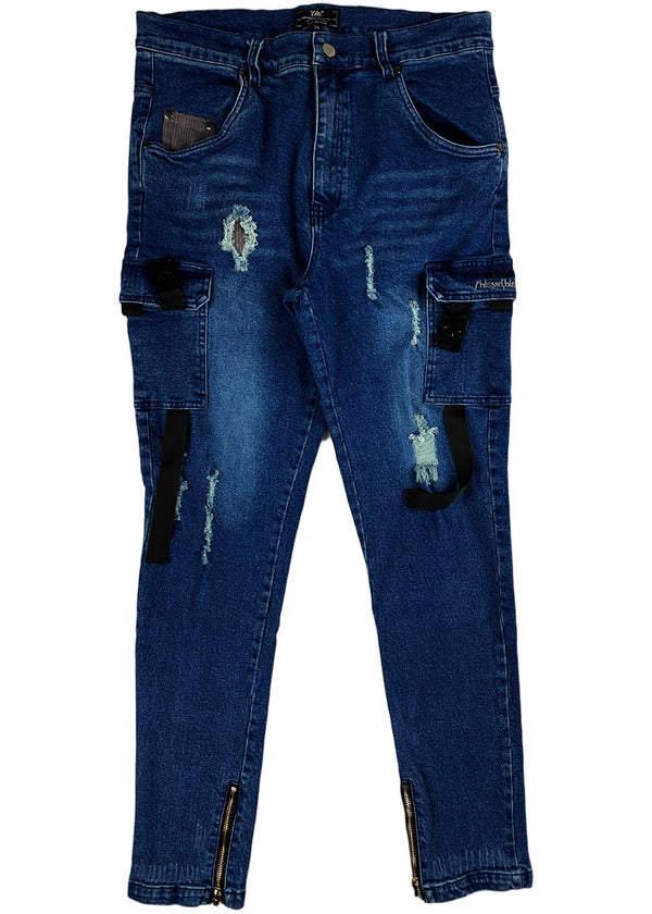 THC  (The HIdeout Clothing) - Blessed Denim Jeans (Dark Wash)