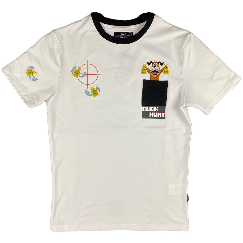 THC (The Hideout Clothing) - Buck Hunt Pocket Tee (White)