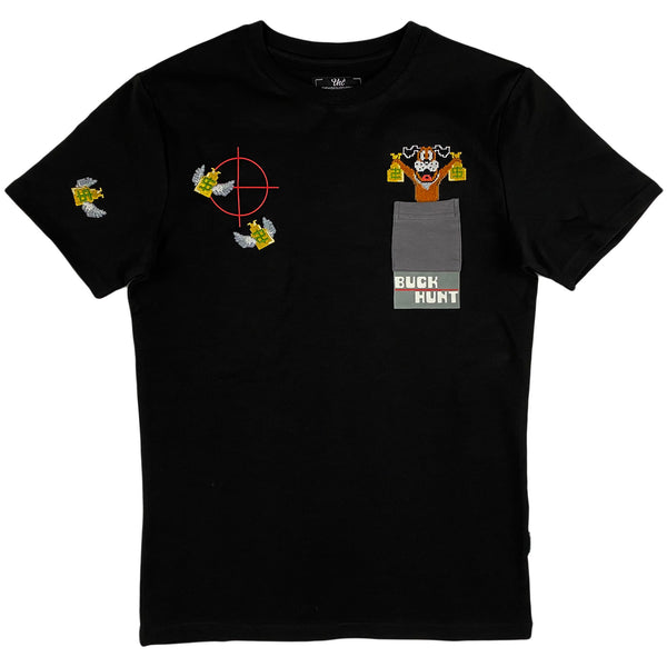 THC (The Hideout Clothing) - Buck Hunt Pocket Tee (black)