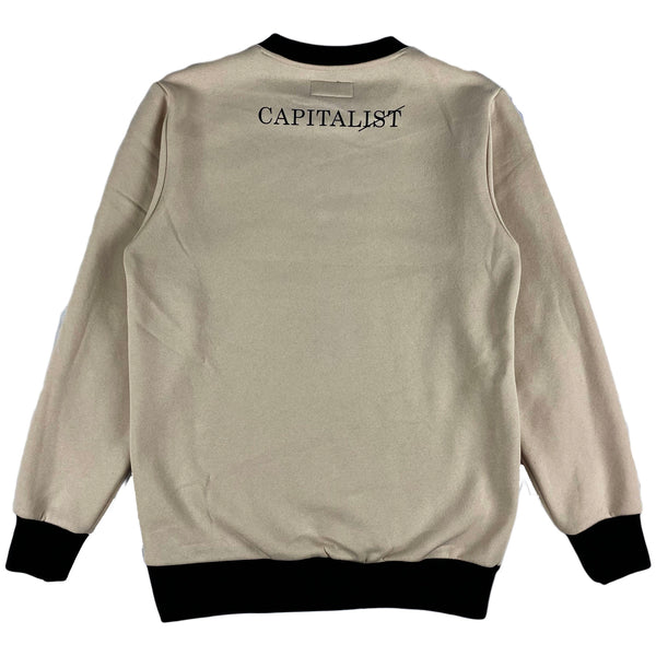 THC (The Hideout Clothing) - Capitalist Crewneck (Ice Khaki)
