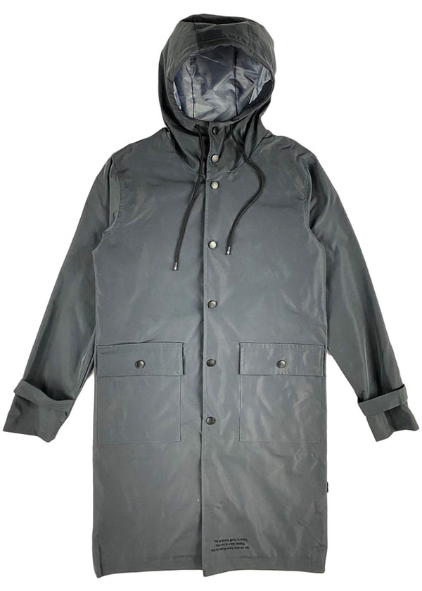 THC (The Hideout Clothing) - Uprising Raincoat (Ice Charcoal)