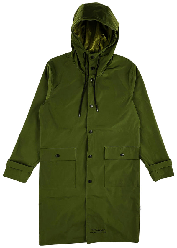 THC (The Hideout Clothing) - Uprising Raincoat (Moss Green)