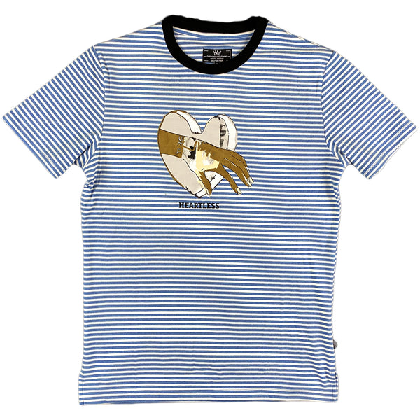 The Hideout Clothing - Heartless Striped Tee (mystical blue)