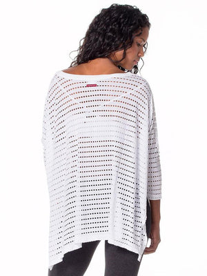 Holey Jersey Oversized 3/4 Sleeve Top
