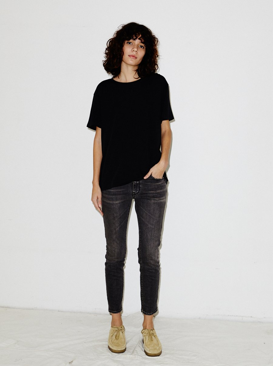 Mini Skinny Jean in Black Stone