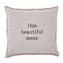 Load image into Gallery viewer, Beautiful Mess Square Pillow