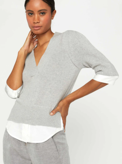 Lucie Layered V Neck Sweater