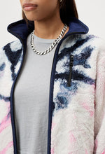 Load image into Gallery viewer, Tie Dye Polar Fleece Pink+Navy