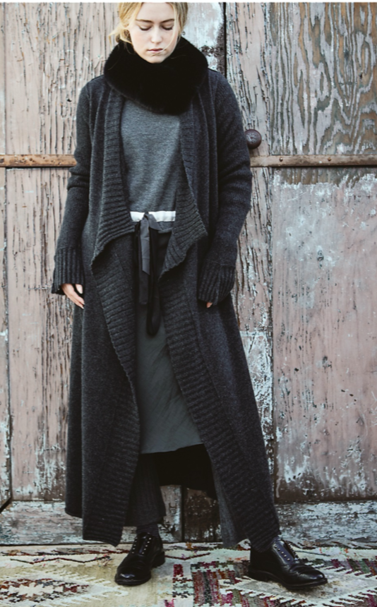 Cashmere Heathered Pub Coat