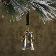 Load image into Gallery viewer, Mistletoe Bell Ornament