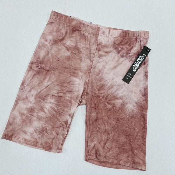 Pink Tie dye biker shorts. Multiple sizes available