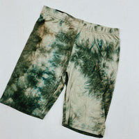Green Tie dye biker shorts. Multiple sizes