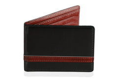 Black w/ Red  Minimalist Wallet