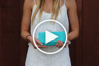 Aqua Blue Clutch (3 Straps Included) - Articulate