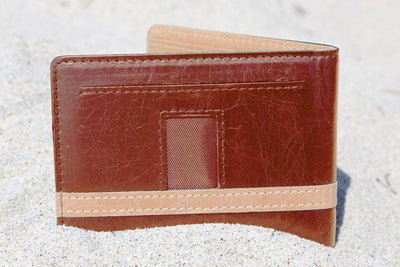 Brown w/ Beige Minimalist Wallet - Articulate