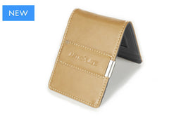 Beige & Charcoal Slim Money Clip w/ RFID