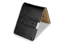 Black & Beige Slim Money Clip w/ RFID