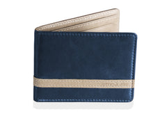 Dark Blue w/ Beige Minimalist Wallet - Articulate
