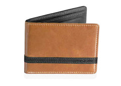 Brown w/ Black Minimalist Wallet