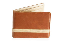 Brown w/ Beige Minimalist Wallet