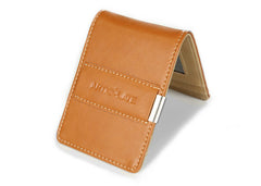Brown & Beige Slim Money Clip w/ RFID - Articulate