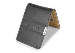 Charcoal & Beige Slim Money Clip w/ RFID