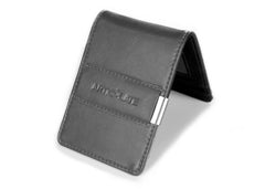 Charcoal & Black Slim Money Clip w/ RFID